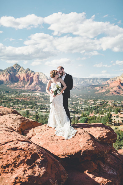Couple on top of mountain at Agave of Sedona