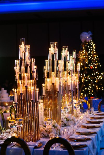 Blue & Gold Christmas Wedding