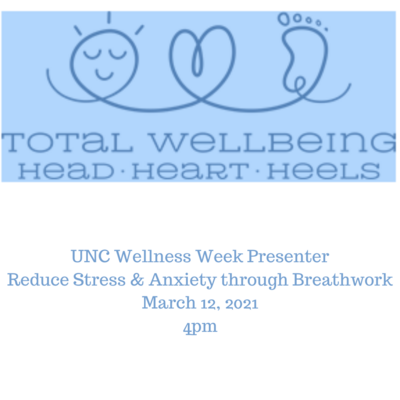 Reduce Stress & Anxiety through Breathwork March 12, 2021 4pm