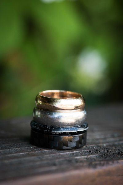 Hocking Hills, OH, wedding rings, wedding day