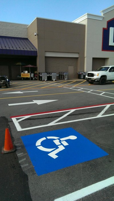 Lowes-Broken Arrow, OK-Striping Pics (10)