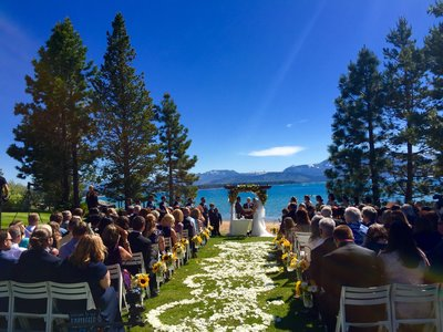 We specialize in amazing Tahoe beach weddings.