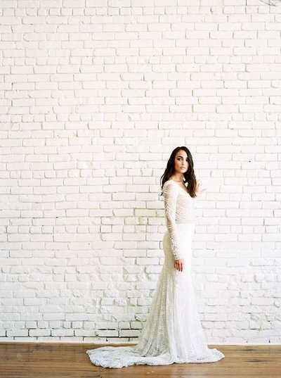 Beautiful Bridal Portrait Downtown Columbus, Fine Art Film