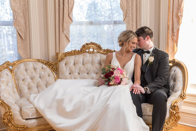Patrick Haley Mansion Wedding Couple