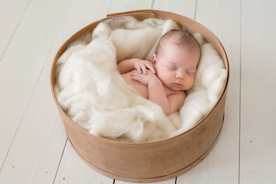 newborn-baby-photographer-chicago-studio-sleeping-basket-neutrals