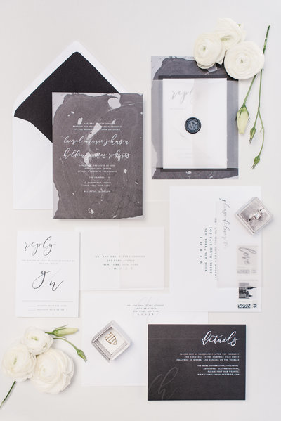 Sloan Modern Marble Wedding Invitation Suite