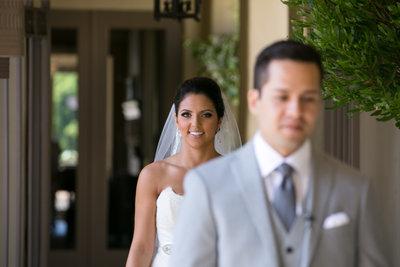 First glance at Marbella Country Club wedding in Orange County, CA San Juan Capistrano wedding photographer