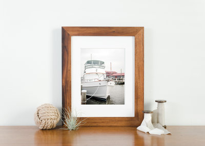 sailing framed photo