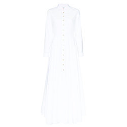 Evi Grintela White Juliette Shirtdress