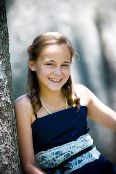 milestone photograph of junior bridesmaid