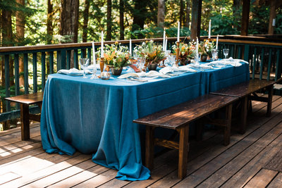 Cabin PNW Elopement Dinner Inspirations Fall Wedding Planner