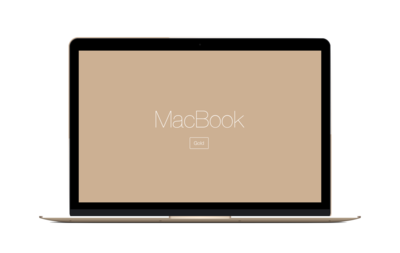 MacBook Mockup - Gold