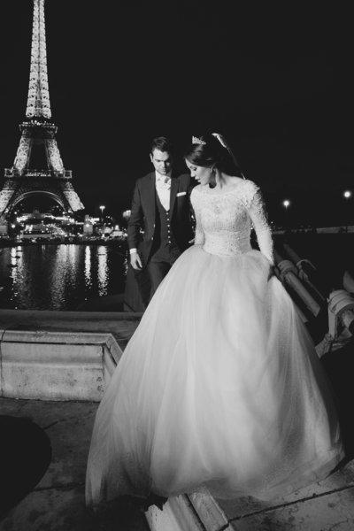 Een avondshoot in Parijs bij de Eiffeltoren door Nanda Zee van FOTOZEE