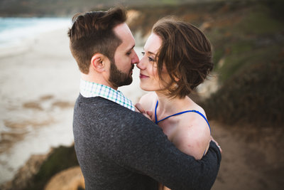 engagement photos in big sur