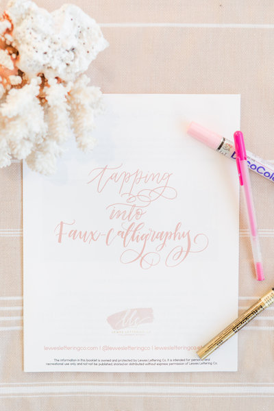 Faux calligraphy workshop by Lewes Lettering Co