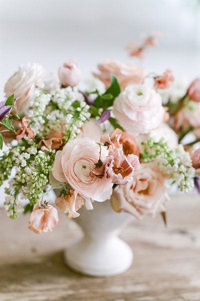 Blush Floral Arrangement by Life In Bloom