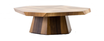 Wooden coffee table with blunt edges from Hockman Interiors