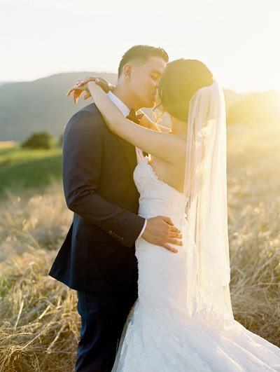 sunset kiss, california wedding photographer