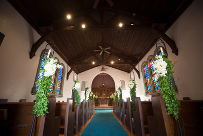 Ceremony site at La Jolla Presbyterian Church Chapel