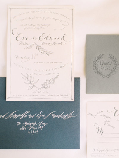 gray-letterpress-wedding-invitation