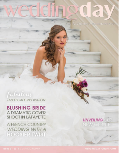 wedding day magazine cover