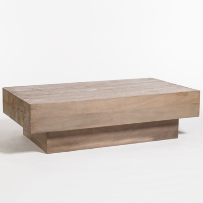 Solid wood coffee table at Hockman Interiors