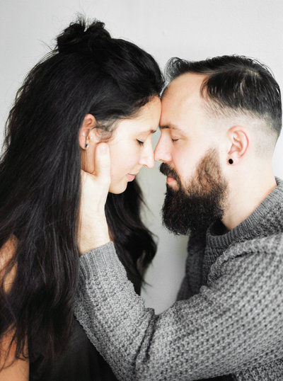 Couple in love portrait photography shot on film