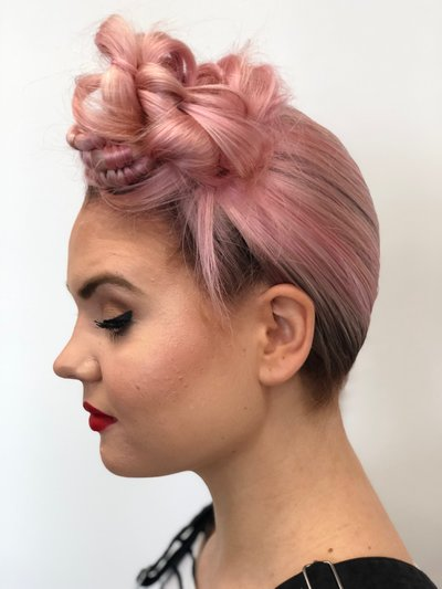 Paris hair Artist Fashion PINK