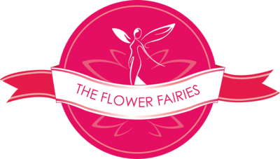 Flower Fairies standard logo with ribbons