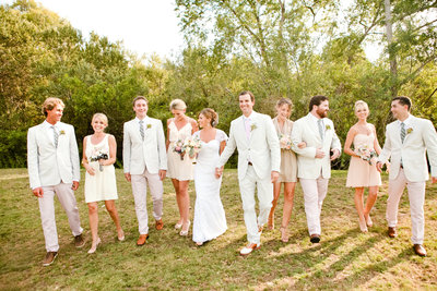 Orange County barn wedding location Strawberry Farms Golf course bridal party image