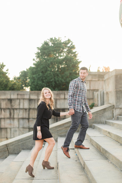 John & Mallori's Fall Engagement at the Philadelphia Art Museum Engagement Photos (204