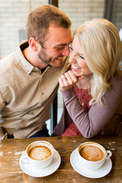Twenty Below Coffee Fargo ND Engagement Photo
