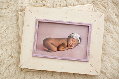 PA cream pink frame handmade for newborn photo