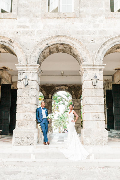 Chic bridal portrait ay Codrington College, Barbados wedding venue - photo by Fine Art Destination Wedding Photographers - Evonne and Darren
