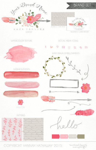 Branding_Package_-_Boutique_Logo_-_Website_Template_-_Flower_Logo_-_Watercolor_Logo_-_Brand_Identity-267575931-_3