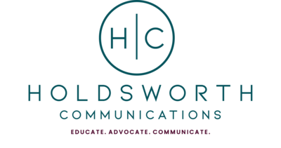 Holdsworth Communications Logo with tagline