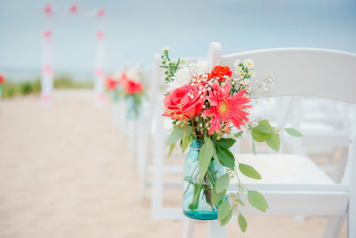 beach ceremony wedding photographer in frankfort michigan