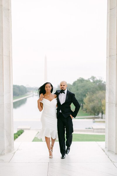 anniversary session at lincoln memorial in washington dc by costola photography