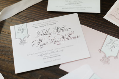 Sullivan Script Tag Wedding Invitation Suite