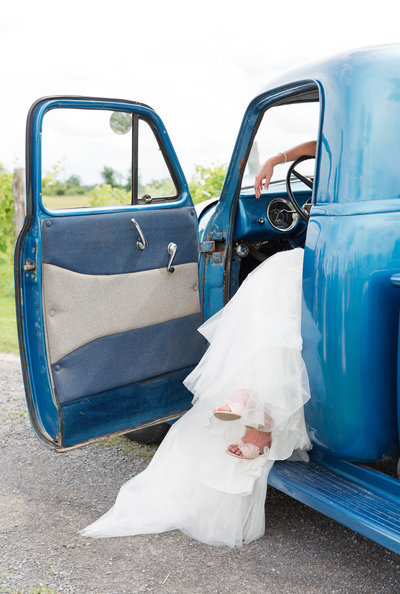 Bride and truck