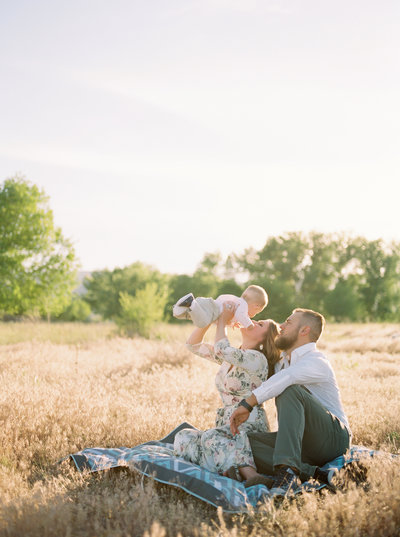 Film Family Photography in Littleton, Colorado with a natural, romantic style