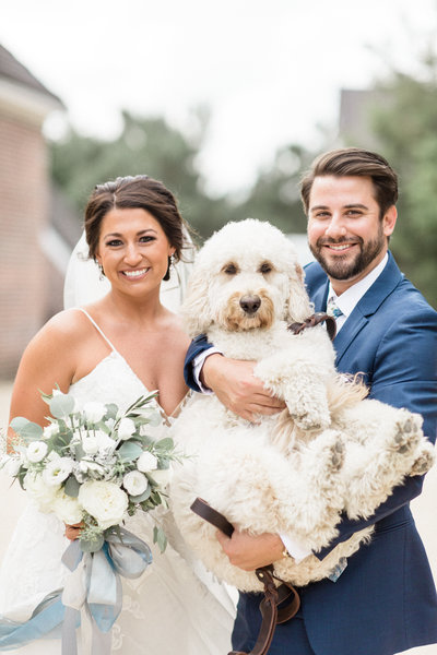 married couple dog portrait