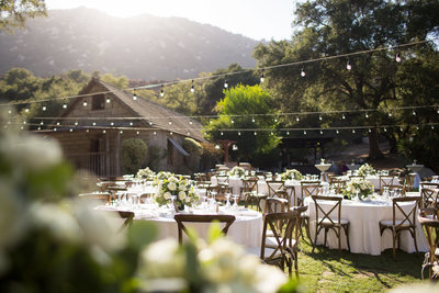 Reception Space at sunset at Temecula Creek Inn