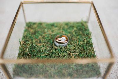 engagement and wedding rings in ringbox