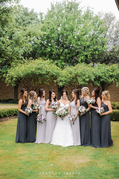 bridal party at hotel crescent dallas