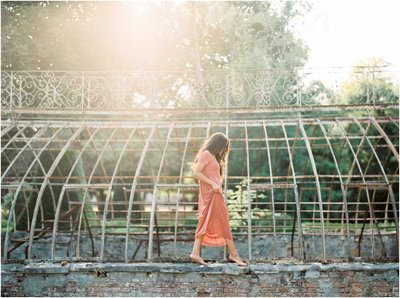 Alexandra Vonk Fine Art Wedding Photography - This engagement gallery contains fine art photographs of  Michelle and Kyle at an old greenhouse in France..