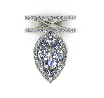 CUSTOM 8CT PEAR - Kristoff Jewelers