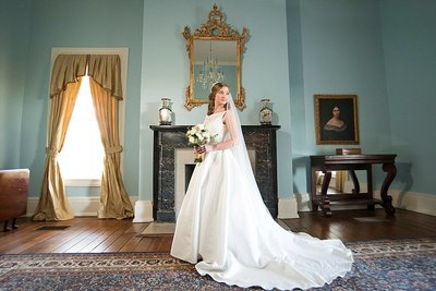 Caring Romantic Couples Portrait Smith Park Mansion in Franklin TN