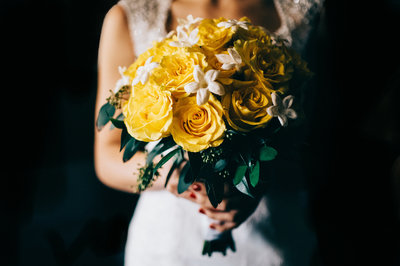 wedding bouquet yellow flowers