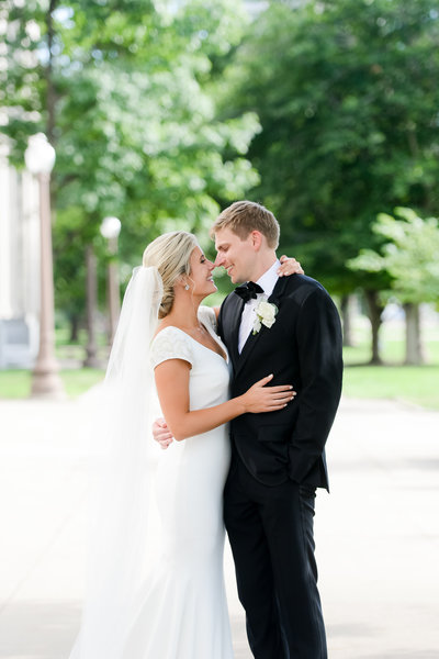 A bride and groom at their  Central Library wedding